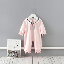 Baby Girl Romper Cotton Bow Lace Newborn Baby Rompers Girls Princess Party Newborn Baby Clothes First Birthday Baby Jumpsuit