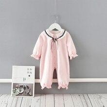 เด็กสาว Romper Bow ลูกไม้ทารกแรกเกิด Rompers หญิงเจ้าหญิงทารกแรกเกิดเสื้อผ้าเด็กวันเกิดเด็ก Jumpsuit