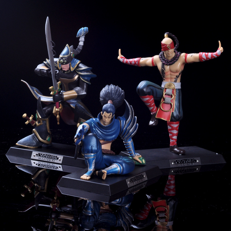 Model-Toy Battle Game-Sword Car-Decoration Hand-Game Yasuo-Character PVC Hero Environmental-Protection