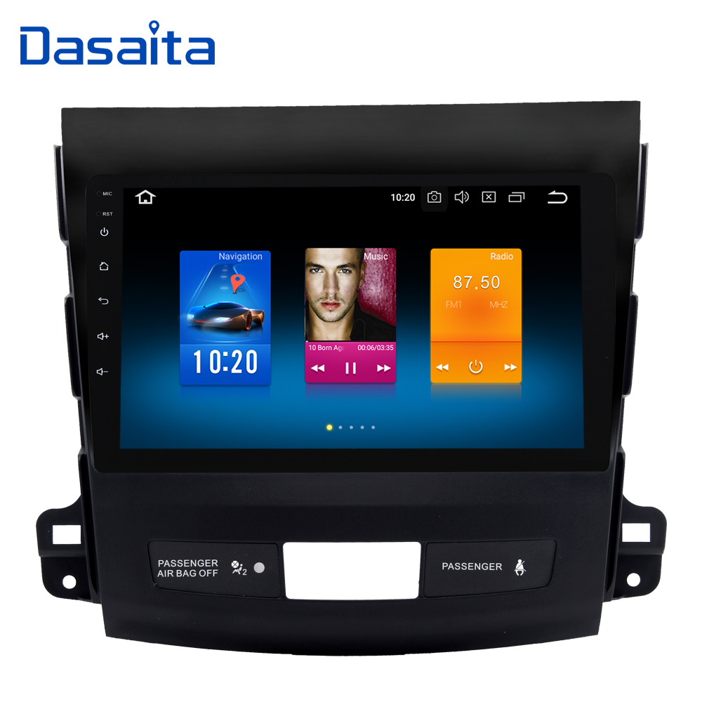 9 IPS Android 8.0 Car GPS Radio Player for Mitsubishi Outlander Multimedia 2007-2011 with Octa Core 4GB+32GB Auto Stereo