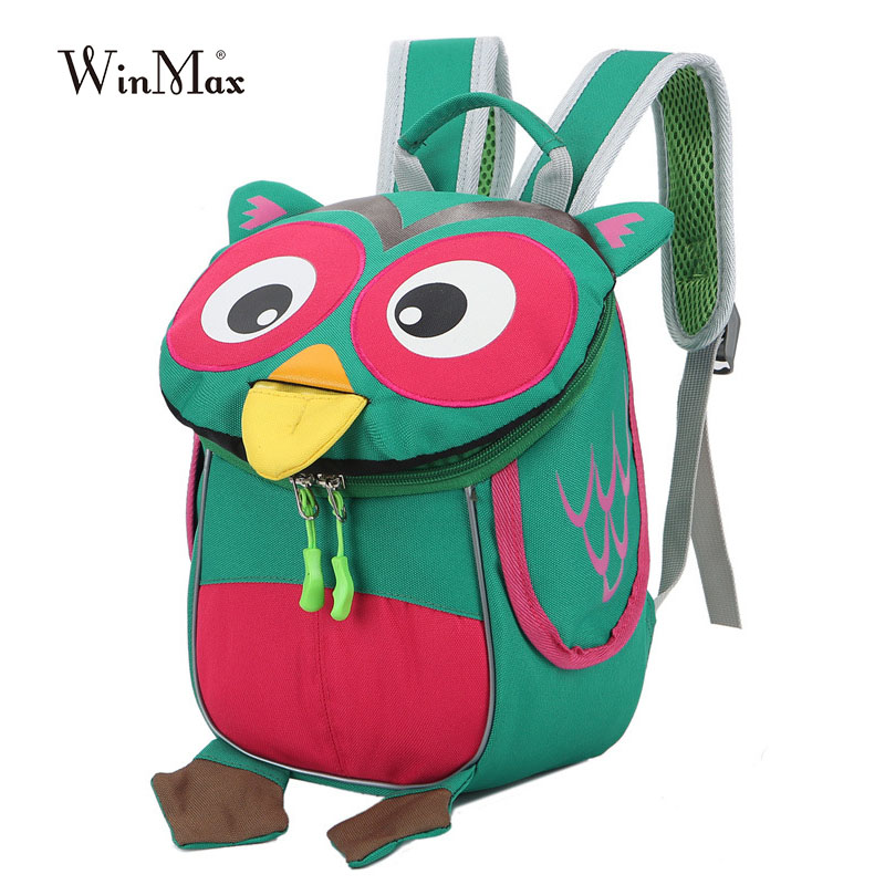 infância mochila escolar Kindergarten School Bag : Owl Children Backpacks