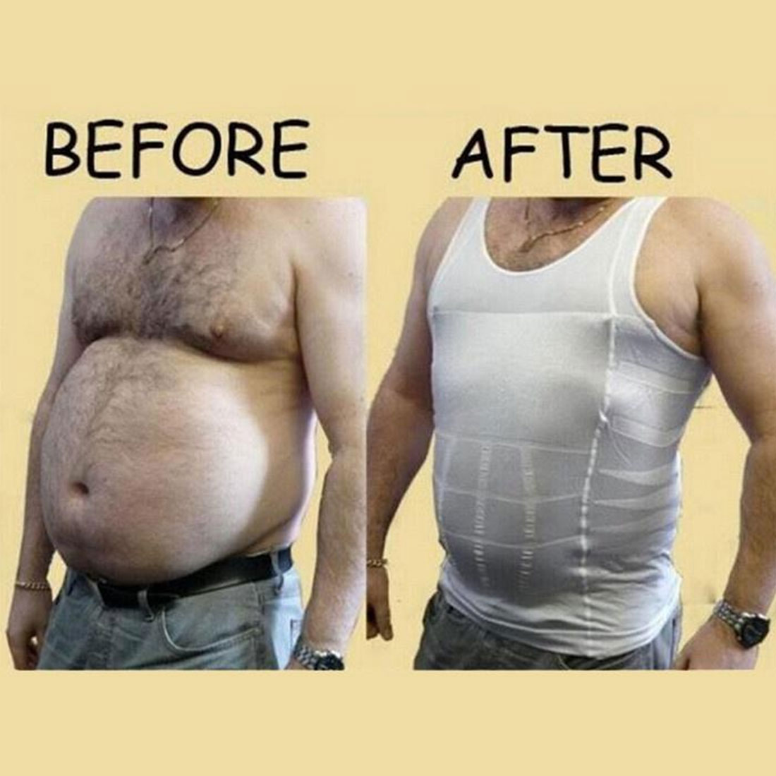 sous vetement hommes Slim lift Men 39 s body sculpting slimming vest Waist and abdomen underwear less beer belly Thin chest waist v in Shapers from Underwear amp Sleepwears
