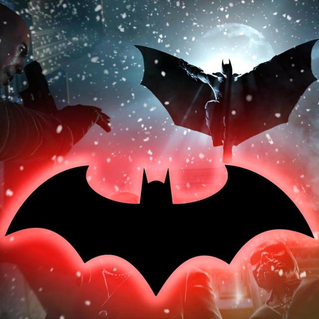Kreative USB Batman Spiel Thema Spiegel Nachtlicht Bunten Fernbedienung LED Wandleuchte Wohnzimmer Schlafzimmer Dekoration Beleuchtung