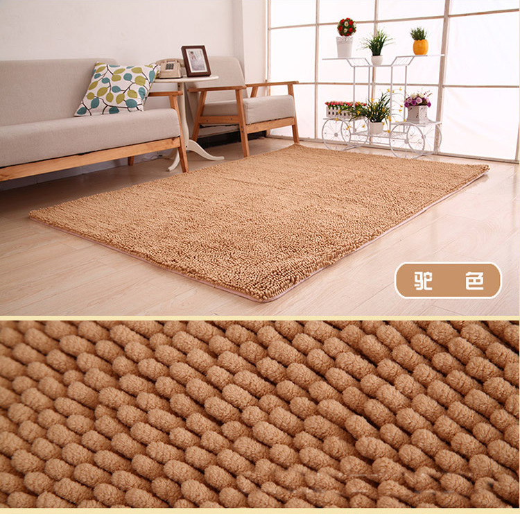 US $8.7 33% OFF|Drop Shipping Large Fluffy Chenille Non slip Floor Mats  Kitchen Rugs Bathroom Mats Bedroom Sofa Carpets Cushion Foot Pad YMRC01-in  Rug ...