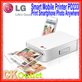 Lg smart mobile printer pd233 imprimir foto vía bluetooth conecte con el teléfono inteligente y iphone w/1 año de garantía (regalo libre)