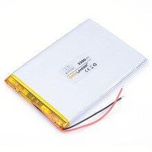 3.7 V 3300 mah tablet battery brand tablet gm lithium polymer battery 4076100 For DIY Power mobile Power bank PAD DVD