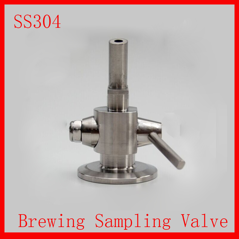 New Stainless Steel 1-1.5 SS304 Sanitary Clamp Brewing sample valve, SS sampling valve for tank brewing 1 5 sanitary stainless steel ss304 y type filter strainer f beer dairy pharmaceutical beverag chemical industry