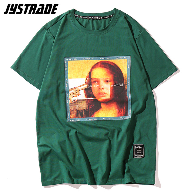 Mona Lisa Men's new 2019 hot selling The Professional Funny 90s T-Shirts streetwear summer graphic tees hip hop casual cotton