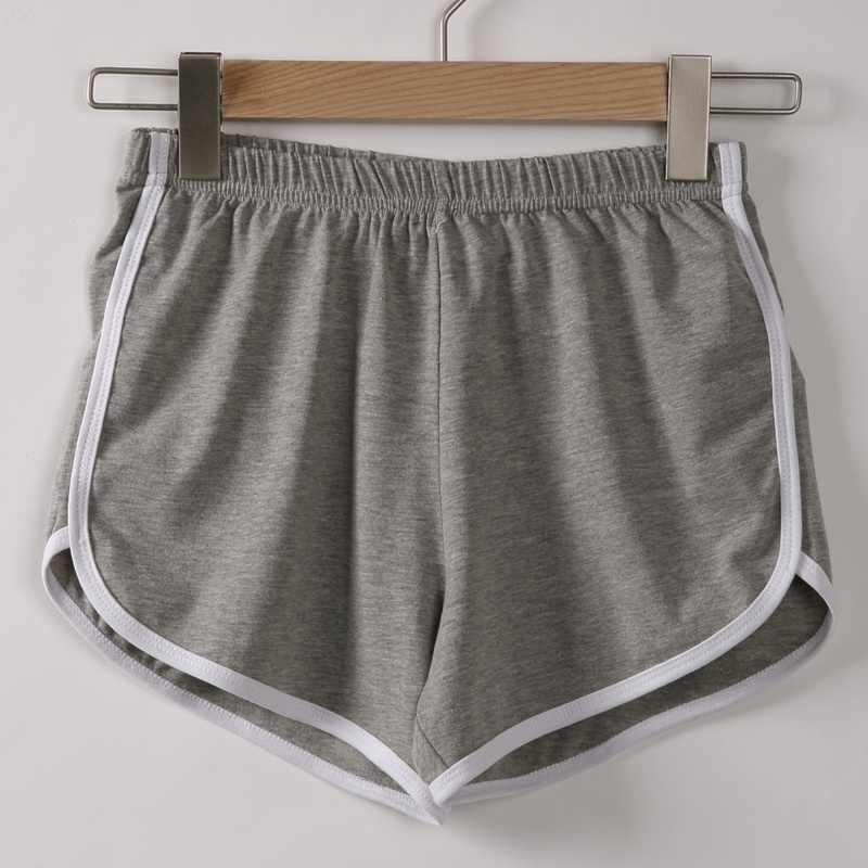 Wanita Baru Fashion Kasual Celana Pendek Musim Panas Pinggang Elastis Tinggi Band Serut Celana Hot