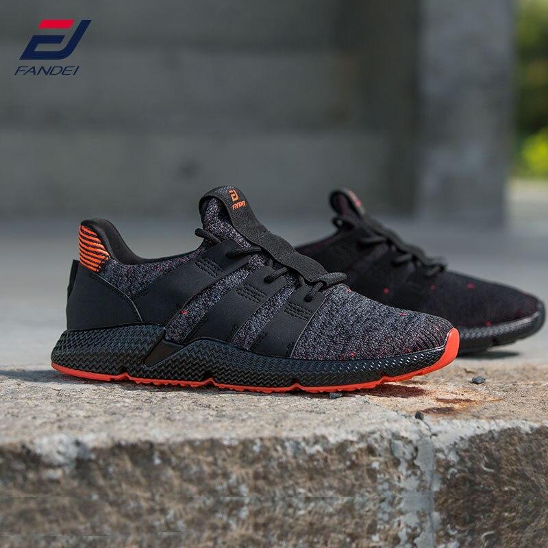 FANDEI New Original Winter Running Shoes For Men Outdoor Sport Shoes Mens Light Sneakers Cushioning Non-slip Mesh Walking Shoes