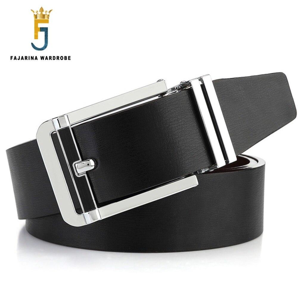 Fajarina calidad nuevo diseño piel de vaca cinturón dos lados usan café negro  vaca hebilla cinturones de cuero para hombres freeshipping LUFJ205 en Los  ... e7bc8ed7485d