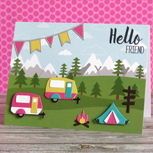 Camping Fire Icons Set Metal Cutting Dies Stencil for DIY Scrapbooking Photo Album Embossing Paper Card Decorative Craft Die Cut все цены