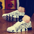 Men Casual shoes Spring Breathable Lace Up Trend Flats chaussure homme wear resistant canvas shoes Flat 022