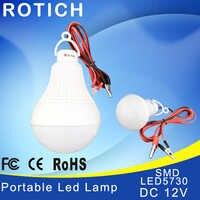 Luz led ampolla bombillas led 12V 12V 5730 smd chip bombilla luz de la lámpara 3W 5W 9W 10 bombilla de filamento portátil W 12W