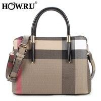 HOW.R.U Brand Luxury Handbag PU Leather Women Tote Bag Fashion Designer High Quality Shoulder Bag 2019 Crossbody Bag for Women