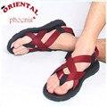 Zapato de Punta abierta Zapatos de Verano Para Hombre Sandalias de la Moda de Impresión Sandalias de Goma de Los Hombres Sandalias Chinelo masculino tamaño 39-43