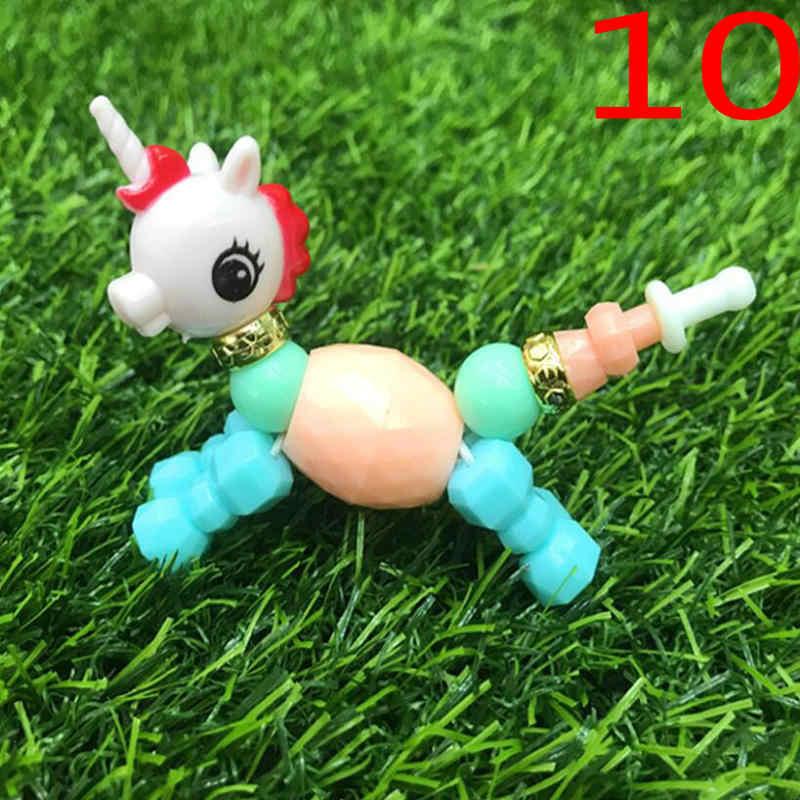 動物ユニコーン子供トリッククリエイティブおもちゃのブレスレットサプライズ DIY ガールジュエリー
