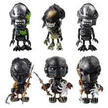 6 stks/partij Aliens Vs Predator Action Figure Requiem Mini Cosbaby Wolf Predator Battle Leuke Poppen PVC Figure Model Speelgoed 7 cm(China)