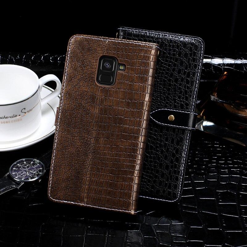 16182452a87 Cheap Itgoogo para Samsung Galaxy A8 Plus 2018 caso cubierta de lujo Funda  de cuero Flip