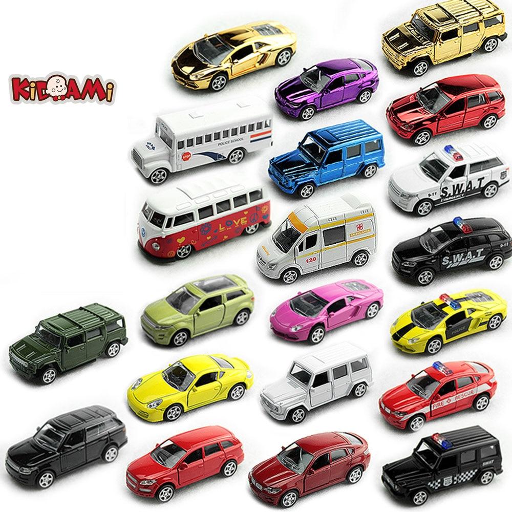 KIDAMI 1:64 Pull Back Toy Car Set Alloy Diecast Metal Vehicle Mini Sliding Car Model Kids Little Car Toys For Children Boy Gift