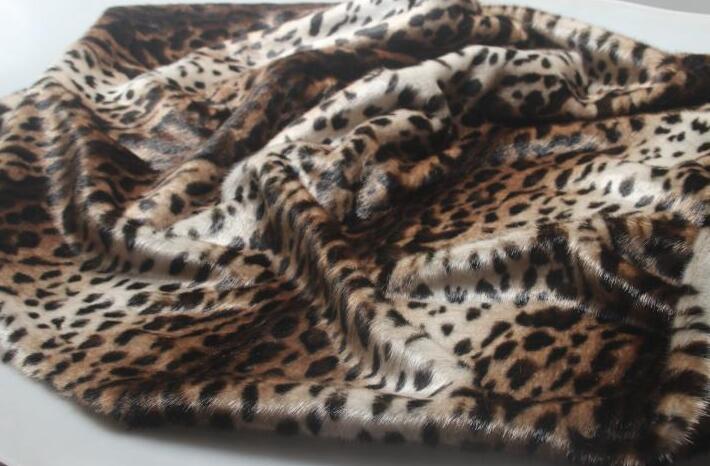 Moda leopardo largo pelo animal algodón felpa lana tela para abrigos textiles hechos a mano parches Jacquard grueso lentejuelas tela A347 - 4