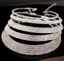 Beautiful Classic Crystal Choker Necklace Earrings and Bracelet Wedding Jewelry Sets