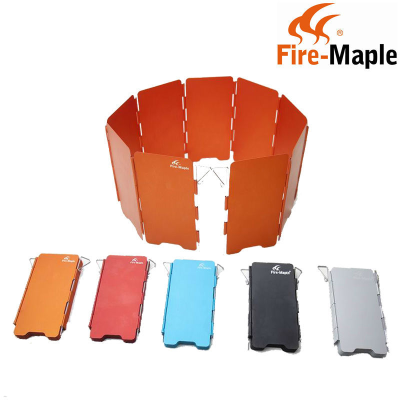 hot sales fire maple portable camping stove wind screen fold 9 plates wind baffle 110g fmw 503. Black Bedroom Furniture Sets. Home Design Ideas