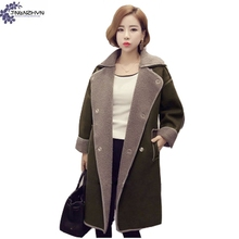 TNLNZHYN winter Women clothing high-end warm Woolen cloth coat fashion Leisure loose large size Female Woolen Outerwear QQ480