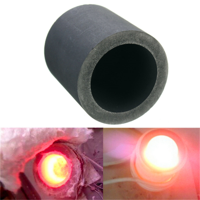 6Oz Graphite Crucible Cup Furnace Refining Melting Gold Silver Tools 30x30mm 1 foundry silicon carbide graphite crucibles cup furnace torch melting casting refining gold silver copper brass aluminum