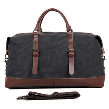 9038A Fashion and Casual CanvasTravel Weekend Duffel Bag