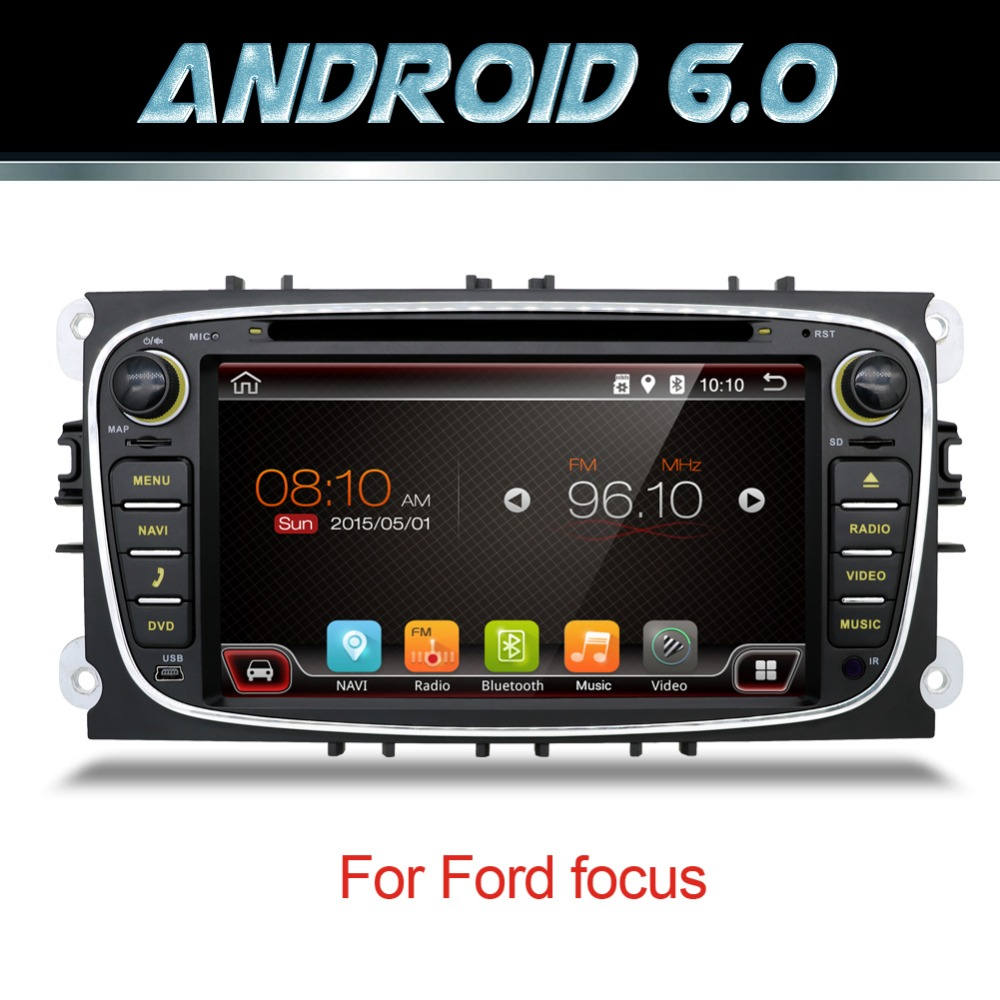 7 Android 5.1 Car Radio DVD For FORD/Focus/S-MAX/Mondeo/C-MAX/Galaxy Quad Core Wifi GPS Navigation Headunit Audio FM USB DAB+