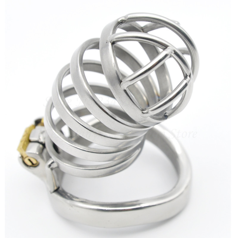 New Stainless Steel Stealth Lock Male Chastity Device,Penis Rings Cock Cage,Virginity Belt,Adult Game Product Sex Toys For Man