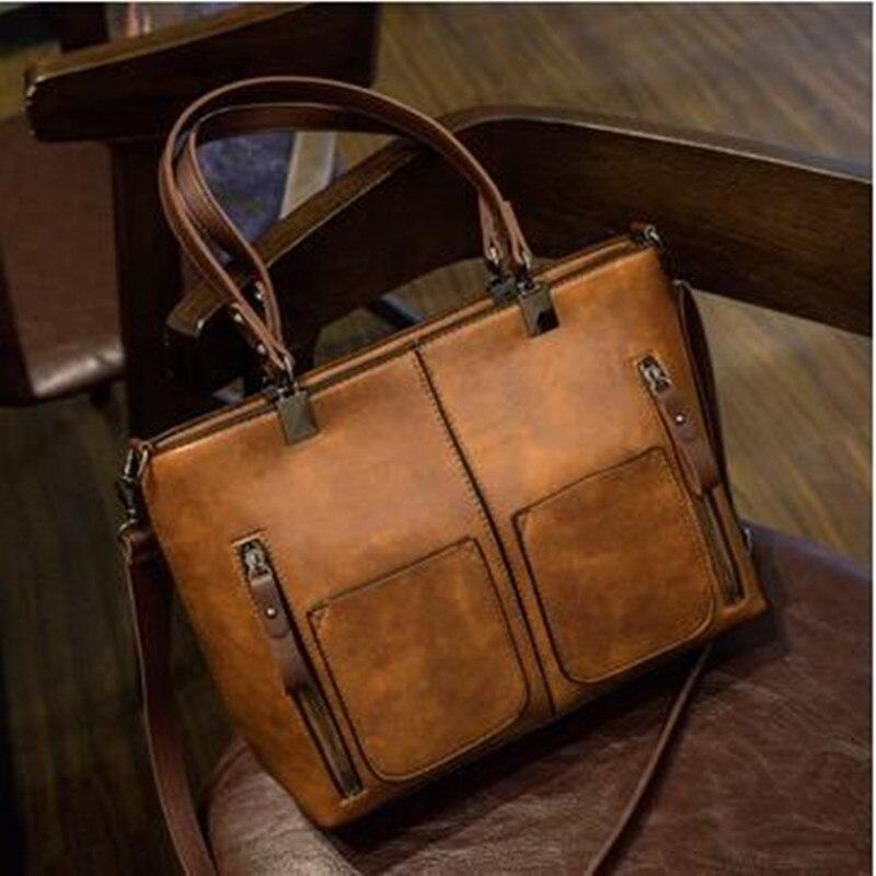 Ретро искусственная кожа для женщин сумка женская повседневная мужская тотализаторов для ежедневных покупок