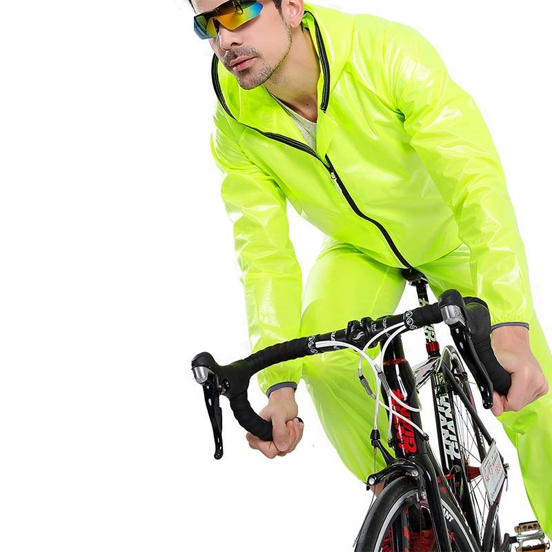 INBIKE Rain Coat Set Men Women Cycling Jersey Set Rainproof Windproof Anti-sweat Cycling MTB Mountain Bike Road Bicycle Clothes цена