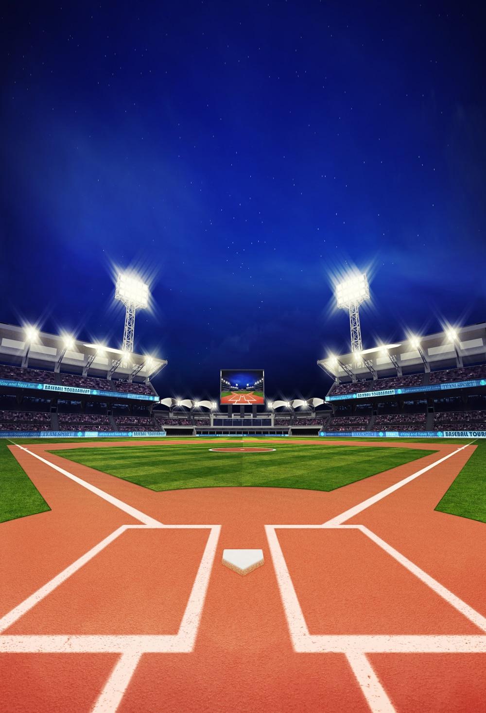 HUAYI Baseball field backdrop birthday photographer