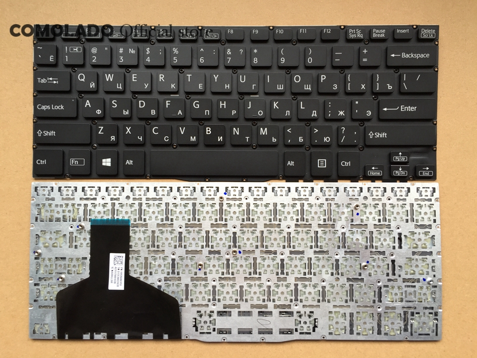 RU Russian Keyboard For Sony for VAIO Fit 13 13A 13N SVF13 SVF13A SVF13N Black Laptop keyboard RU Layout original usb keyboard for sony vaio all in one machine for original sony japanese keyboard high quality for compute pc laptop