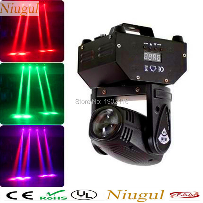 Niugul RGBW Mini LED 10W LED Beam Moving Head Light ,High Power 4in1 LED Beam Effect Stage Light For Party KTV Disco DJ Lighting 2pack 132w beam moving head dj disco party stage lights high power 2r 132w stage beam effect moving head light free shipping