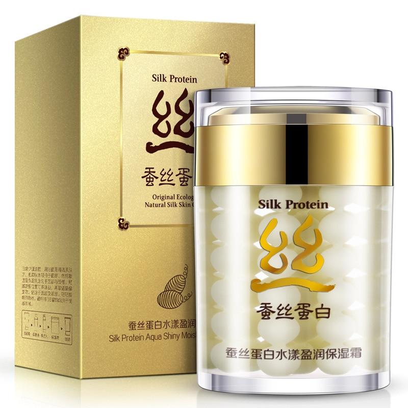 BIOAQUA Hydrating Silk Protein Cream Tighten Skin Pores And Oil Control Brighten Face Skin Care Whitening Cream