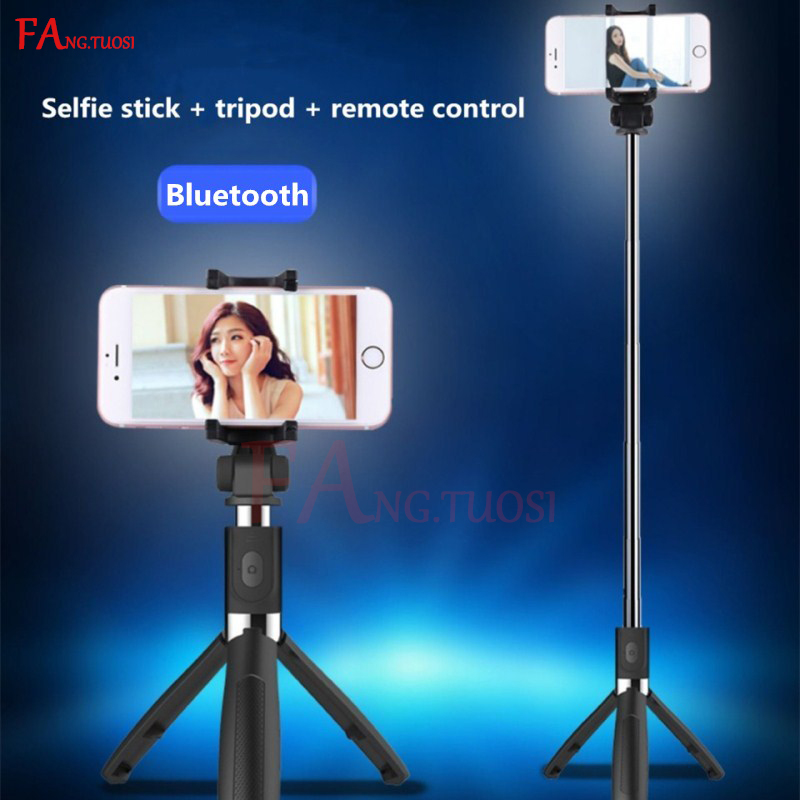 FANGTUOSI high quality selfie stick Bluetooth mini tripod Extendable Monopod Pau Palo for mobile phones Bluetooth selfie stick