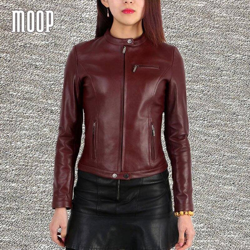 Genuínos jaquetas de couro das mulheres de pele de carneiro couro de carneiro moto rcycle giacca casacos jaqueta outwear blusão jaqueta de couro moto LT192