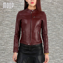 Genuine leather jackets women 100% lambskin slim motorcycle jacket coats veste cuir veritable pour femme abrigos mujer LT192