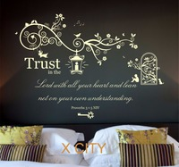 Proverbs 3 V 5 Bible Quote Verse Christian LARGE WORDS WALL ART STICKER REMOVABLE VINYL TRANSFER