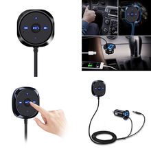 Support Siri Handsfree Wireless Bluetooth Car kit 3 5mm AUX Audio Music Receiver Player Hands free