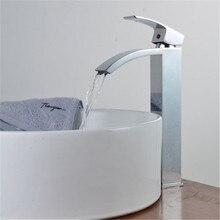 Ванная комната роскошные краны профессиональных Chrome ванной бассейна кухонной мойки Поворотный смеситель судно кран