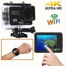 Ultra HD 4K Touch Screen Action Camera Wifi 1080P Dual Screen 170D Go Waterproof Pro cam 4K Sport Camera Mini DVR Remote Control цена 2017
