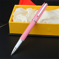 1pc Lot Pink Pen Silver Clip Picasso 916 Roller Ball Pen Malaga Canetas Brand Ball Pens