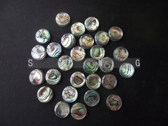6 pcs saxophone finger button pearl real abalone shell diameter 10.5mm