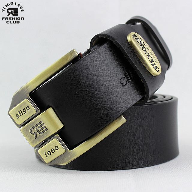 Cinturón 2016 Nuevo Lujo cinturones de cintura correa de Cuero genuino pin hebilla cinturones de diseñador hombres de alta calidad de la manera cinturones hombre
