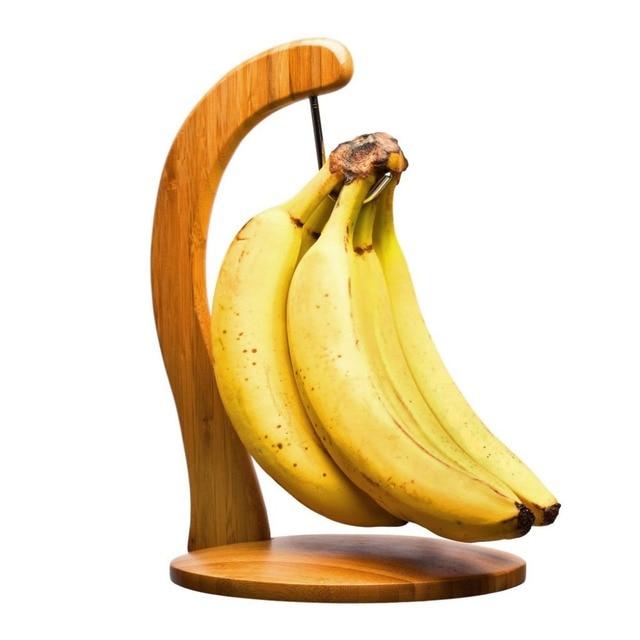 Healthy Banana Hanger Grape Kitchen Storage Fruit Holder ,Eco-Friendly Wooden Bamboo Headphone Stand Holder
