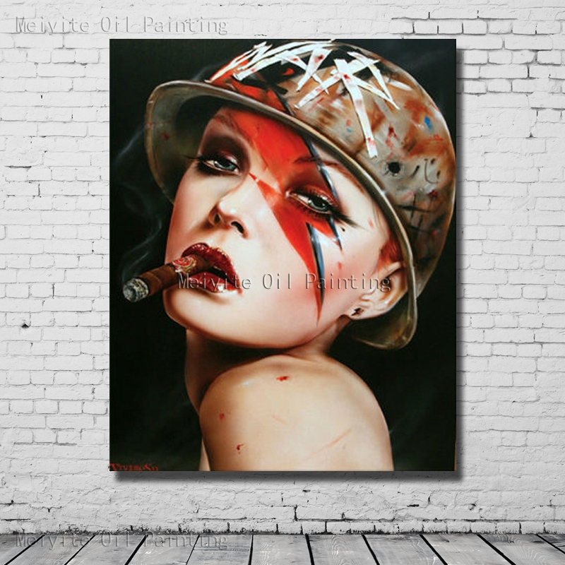 Large Art Chinese Painting Handmade Abstract Modern Women Oil Painting on Canvas Wall Pictures Home Decoration no Framed
